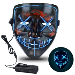 Halloween Mask, Light Up LED Halloween Mask with 3 Light Modes Scary Mask for Halloween Costumes, Cosplay, Festival, Party Ideal or Men, Women, and Ki