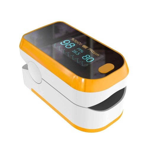 Pulse Oximeter Fingertip (Oximetro), Blood Oxygen Saturation Monitor, Heart Rate Monitor and SpO2 Levels, Portable Pulse Oximeter with Lanyard and Bat