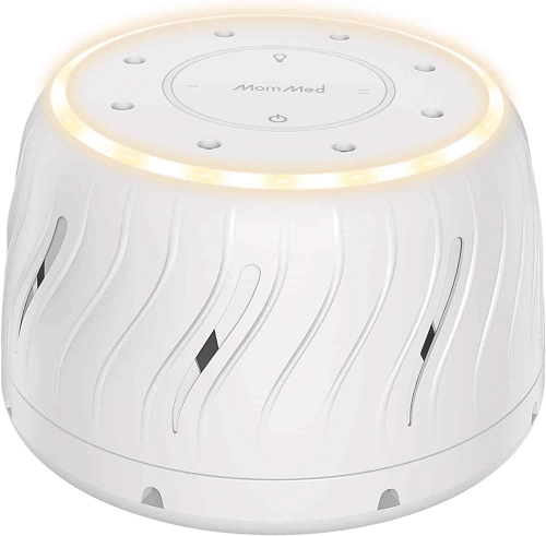 White Noise Sleep Machine with LED Nightlight and Fan | Safe White Noise Cancellation for Adults, Teens, Babies
