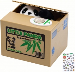 Free Breath Piggy Bank, Mischief Panda Stealing Coin Bank, Cute Panda Piggy Bank for Kids, Automated Panda Coin Saving Piggy Bank for Boys, Girls, Adu