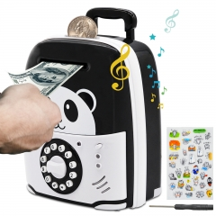 MOMMED Piggy Bank, Electronic Piggy Bank with Password, Piggy Bank Boys Girls and Adults, Panda Money Saving Box ATM Piggy Bank as Gifts for Birthday,