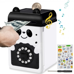 MOMMED Piggy Bank, Money Bank, Mini ATM Saving with Password, Electronic Piggy Bank for Boys Girls and Adults, Panda ATM Piggy Bank for real money, Co